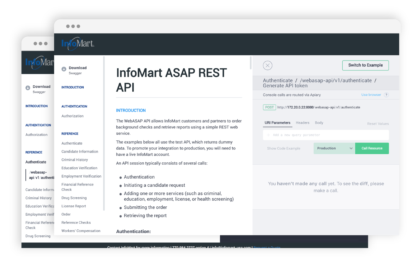 Triple  Tree Software product management and development to build InfoMart RESTful API